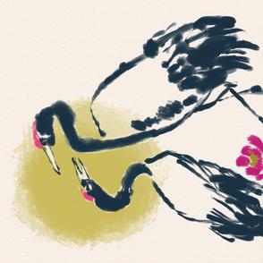 Cranes Tea towel (rice paper)