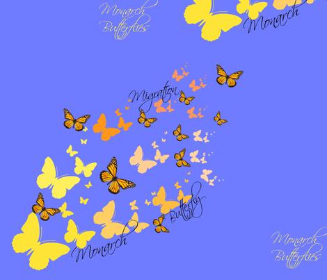 Monarch Butterfly Migration fabric by fleur_de_la_mer_designs on Spoonflower - custom fabric