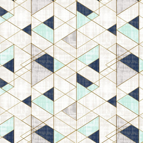 Mod Triangles Vintage_Navy Mint-rotate
