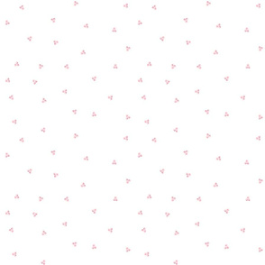 French Country Floral - Tiny Pink Dots