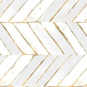 chevron painted white gold rotate