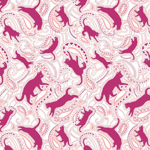Cats-kittens-paisley-ornamental-fuschia-pink-white-big