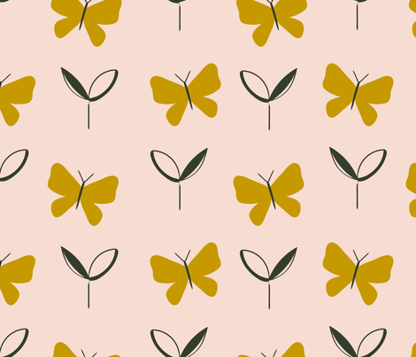 Mother's Day Butterflies fabric by melarmstrongdesign on Spoonflower - custom fabric