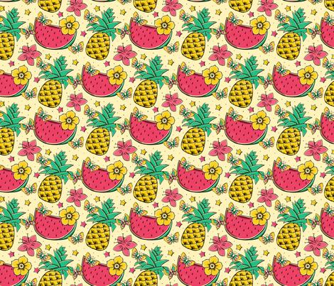 Exotic fruits fabric by monika_suska on Spoonflower - custom fabric