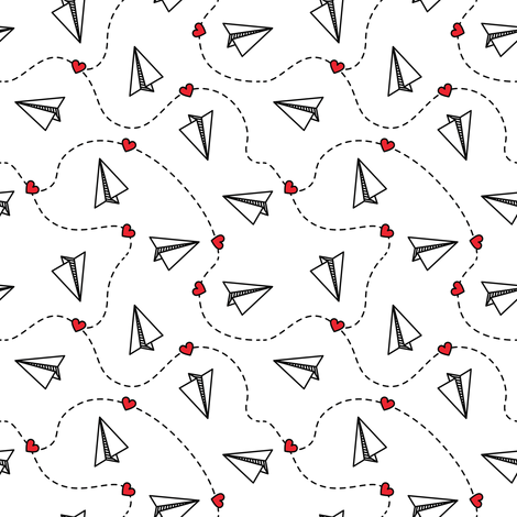 Paper Airplanes fabric by lunastone_crafts on Spoonflower - custom fabric