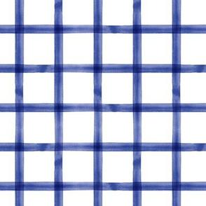 watercolor window pane plaid || Seaver blue