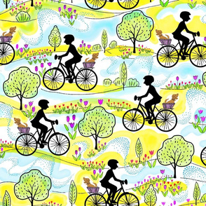 Tulip Ride Silhouette