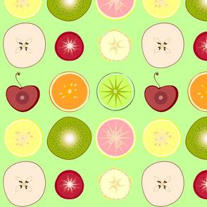 Sliced Fruit- spring green-large