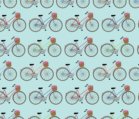 Bicycle fabric by cathleenbronsky on Spoonflower - custom fabric