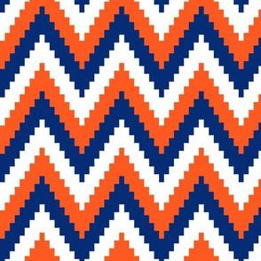 ric rac // blue and orange