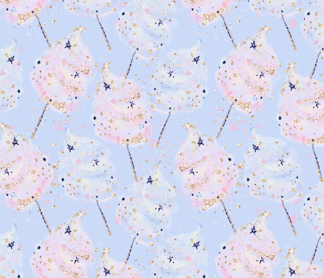 Cotton Candy Dream fabric by comfybabyboutique on Spoonflower - custom fabric