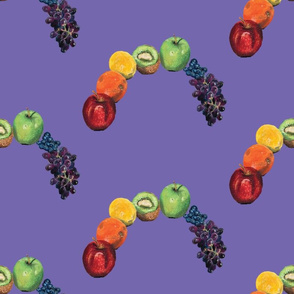 Rainbow fruit purple