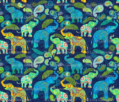 Paisley Asian Elephant Celebration