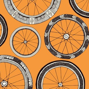 bike wheels amber