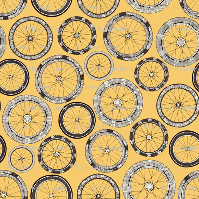 bike wheels butter