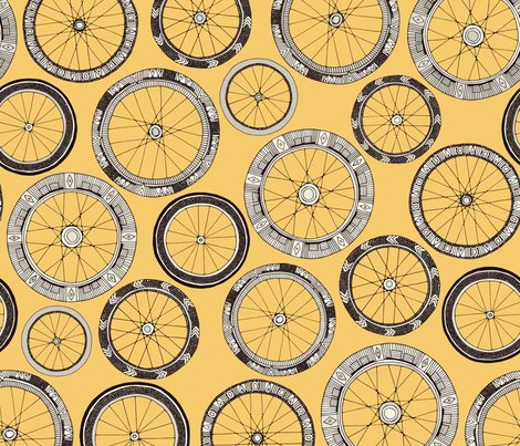 bike wheels butter fabric by scrummy on Spoonflower - custom fabric
