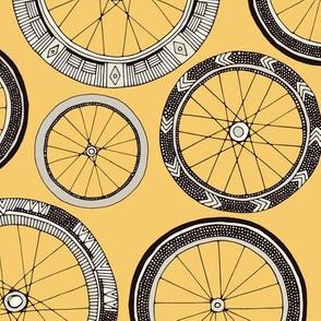 bike wheels butter