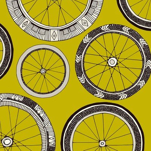 bike wheels chartreuse