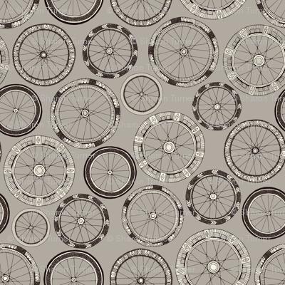 bike wheels stone