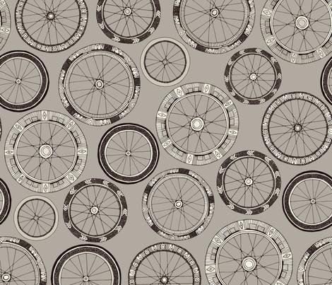 bike wheels stone fabric by scrummy on Spoonflower - custom fabric