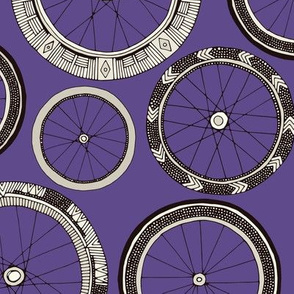 bike wheels violet