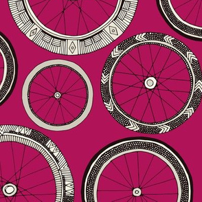 bike wheels pink