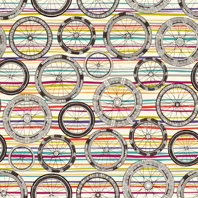 bike wheels stripe