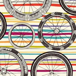 bike wheels stripe