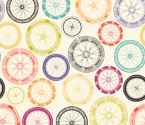 bike wheels fabric by scrummy on Spoonflower - custom fabric