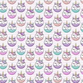 "5/8""  unicorn donuts - pink stripes C18BS"