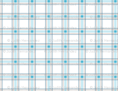 Moon and Stars Bear collection Plaid, white and blue.