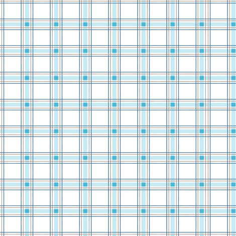 Moon and Stars Bear collection Plaid, white and blue. fabric by evault on Spoonflower - custom fabric