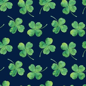 shamrock toss || watercolor on navy