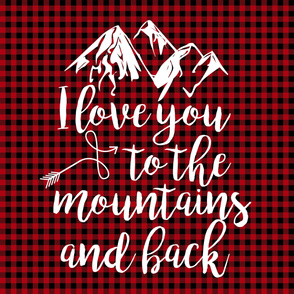 Love you to the mountains and back//Red Buffalo Plaid - 2 Yard Minky Layout