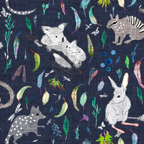 Terra Australis Marsupials (night sky) LARGE