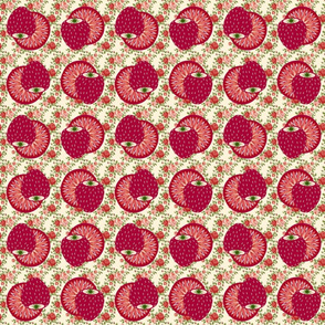 Strawberries and Roses Collage
