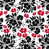Botanical block print