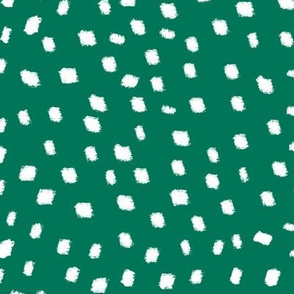 White On Green Dots