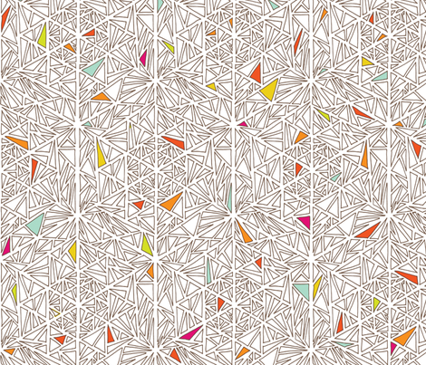 Little Triangles fabric by leethal on Spoonflower - custom fabric