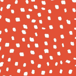 White On Burnt Orange Dots