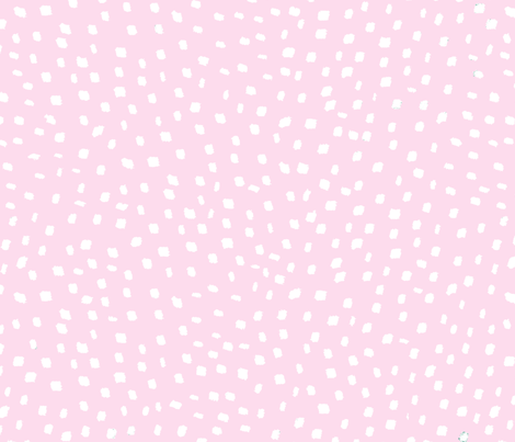White On Pink Dots fabric by curious_nook on Spoonflower - custom fabric
