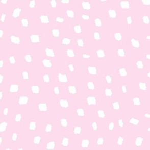 White On Pink Dots