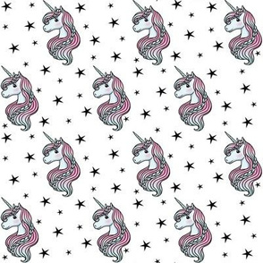 unicorn- white & black - SMALL