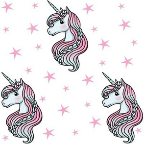 unicorn- white & bright pink - MEDIUM