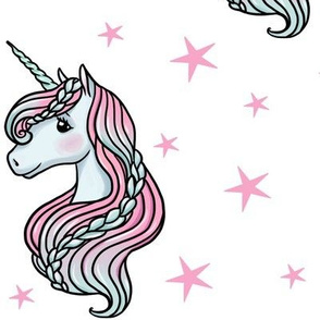 unicorn- white & bright pink - LARGE