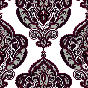 Elegant Holiday Limited Color Palette Damask and Coordinate 2