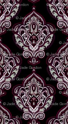 Elegant Holiday Limited Color Palette Damask and Coordinate