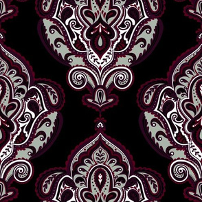 Elegant Holiday Limited Color Palette Damask and Coordinate