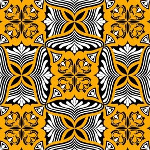 High Contrast Yellow Tile Grid