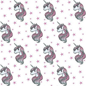 unicorn- white & hot pink - SMALL